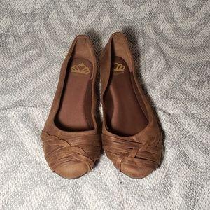 Fergalicious Brown Braided Ballet Flats